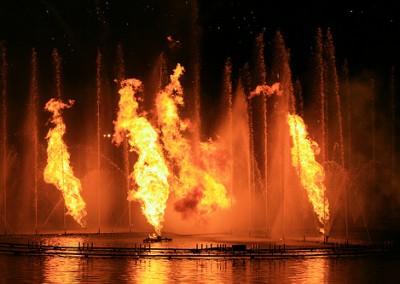 Fonte Luminosa e fogo