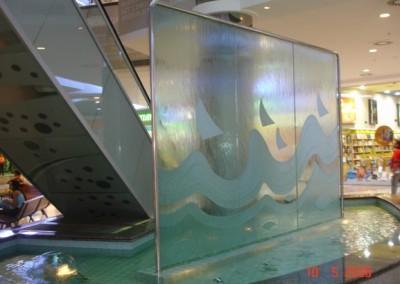 Cascata em parede ou vidro